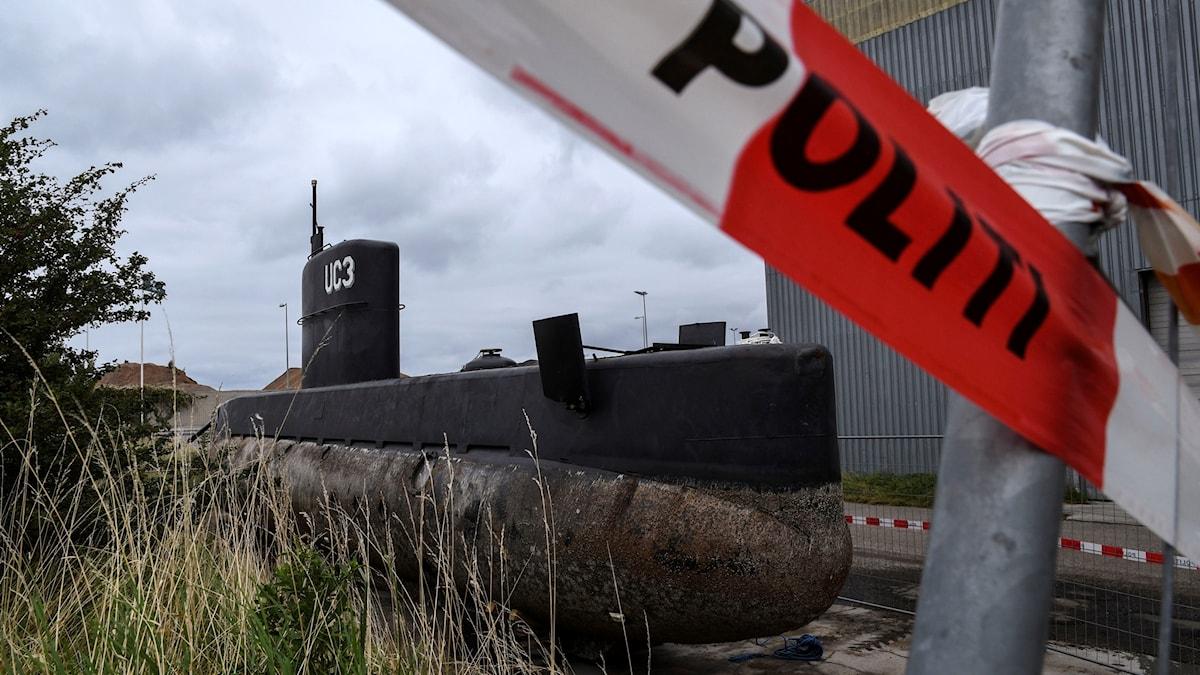 Ubåten som journalisten och uppfinnaren åkte med.