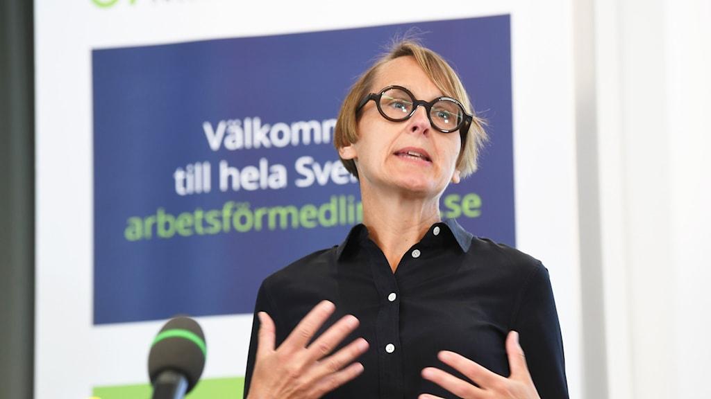 Annika Sundén är chef för analyser på Arbetsförmedlingen.