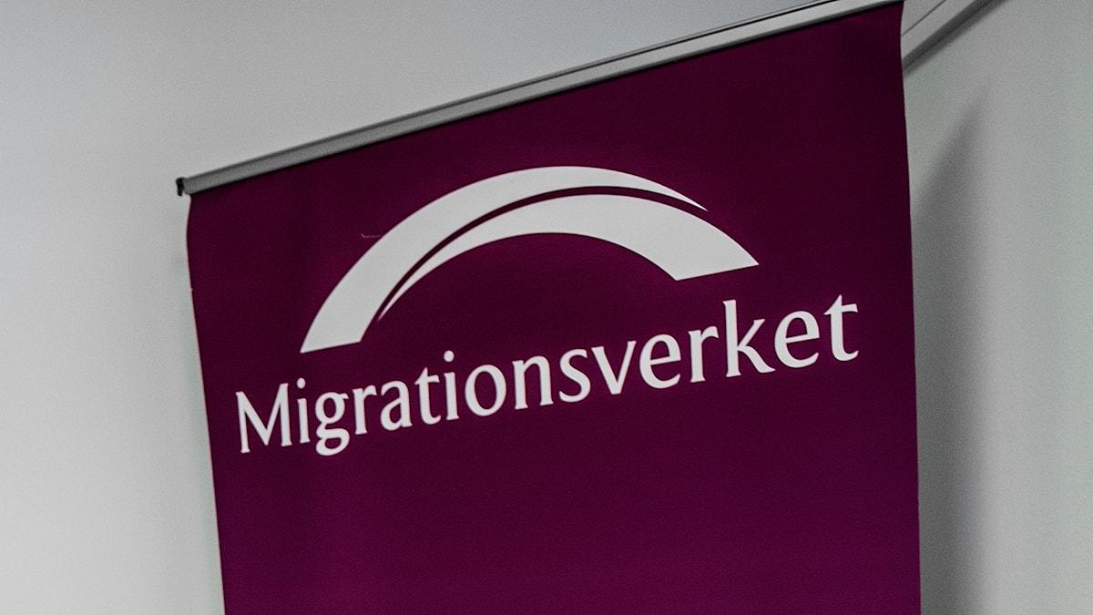 Migrationsverket skylt.