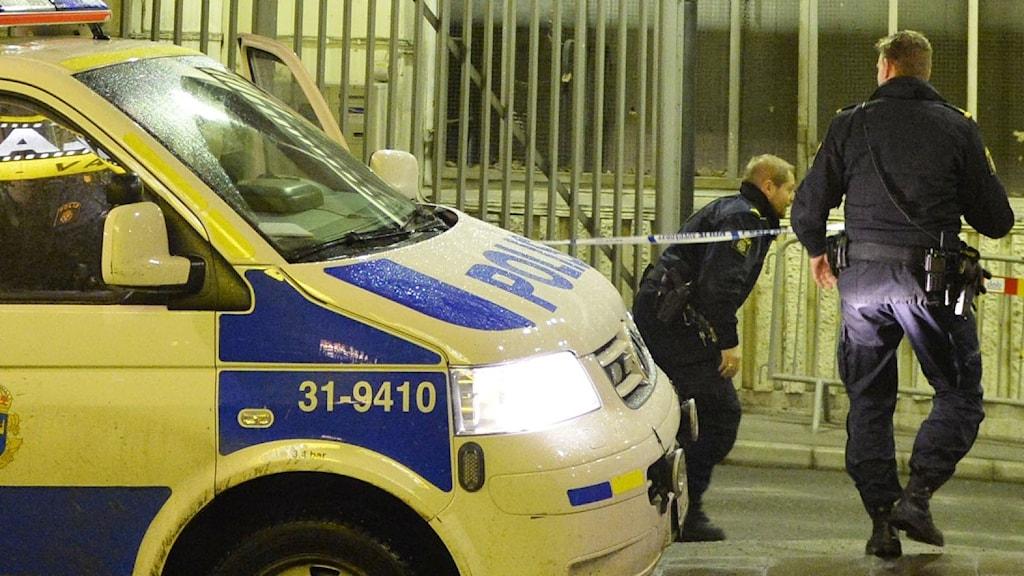 Bild på en polisbil