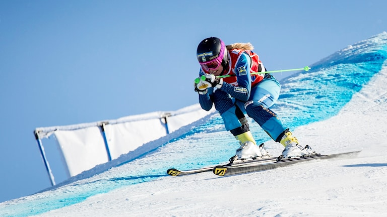 Anna Holmlund i backen