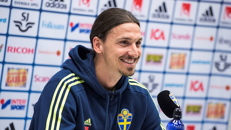 Zlatan Ibrahimovic på presskonferensen