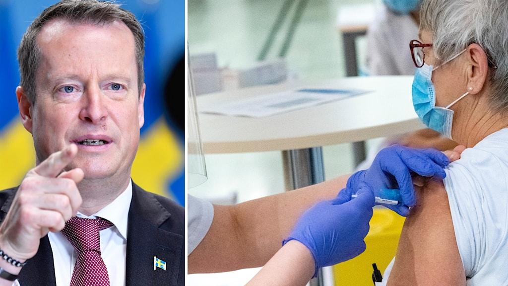 Anders Ygeman och vaccin.