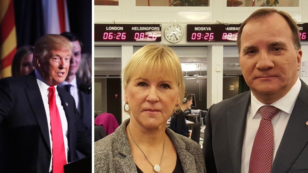 Sweden's foreign minister Margot Wallström and prime minister Stefan Löfven have resolved to keep US-Swedish ties strong, although they are worried by the election of Trump.