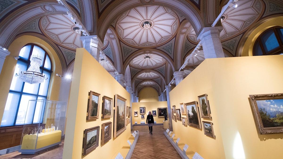 En sal i Nationalmuseum i Stockholm