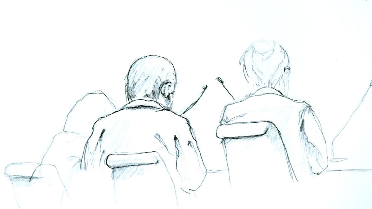 Rakhmar Akilov i rättegången. Foto: Johan Hällnäs / TT