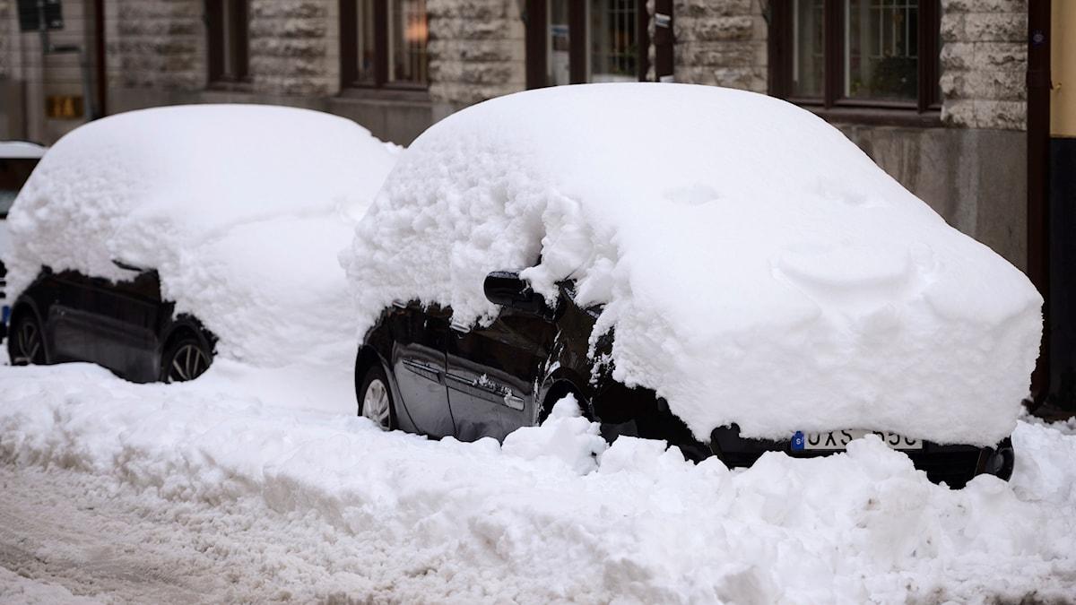Det är problem i trafiken när det är snö och halt.