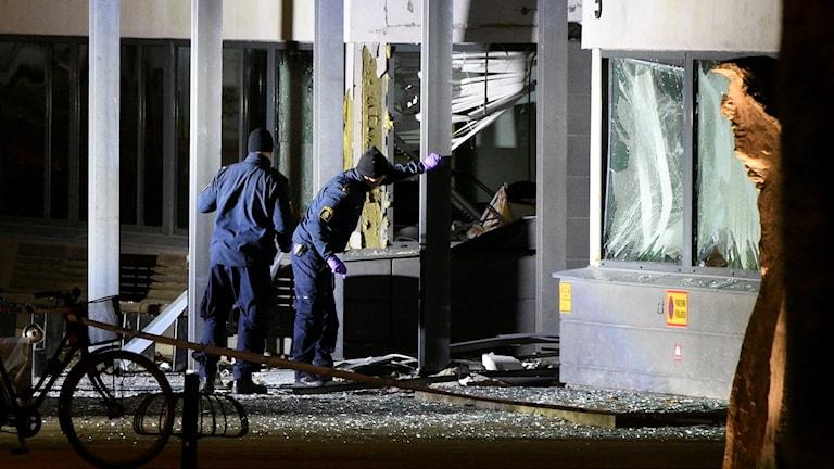 Sprängdåd mot polishuset i Helsingborg.