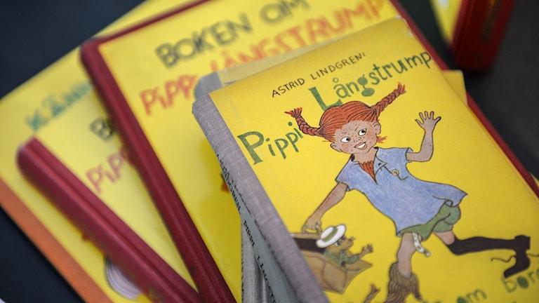 En bok med Pippi Långstrump