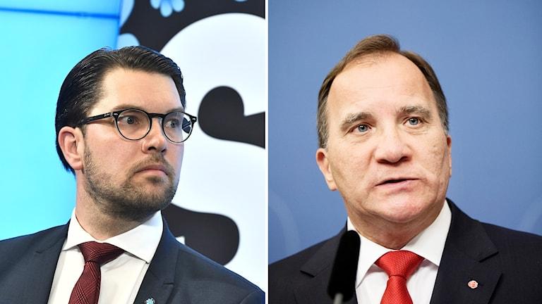 Jimmie Åkesson och Stefan Löfven
