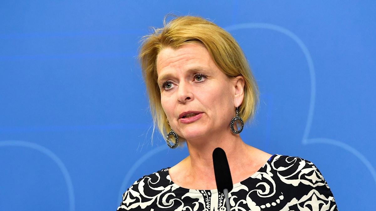 Foto av Åsa Regner som är minister i regeringen.