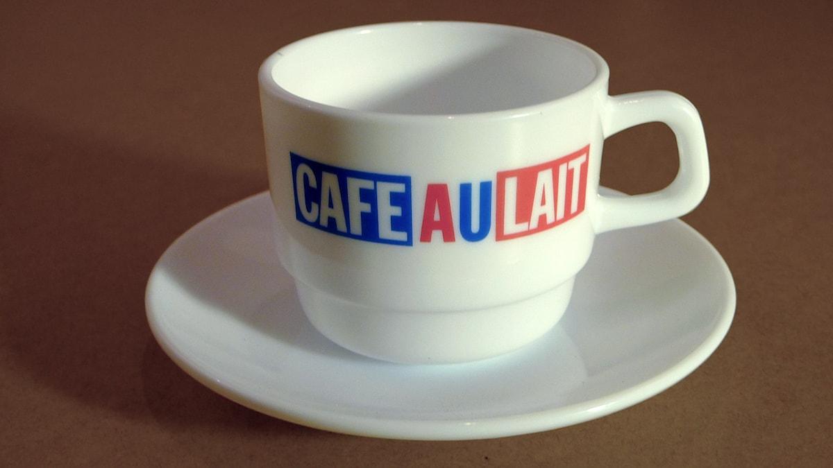 Café au lait-kopp från 1985