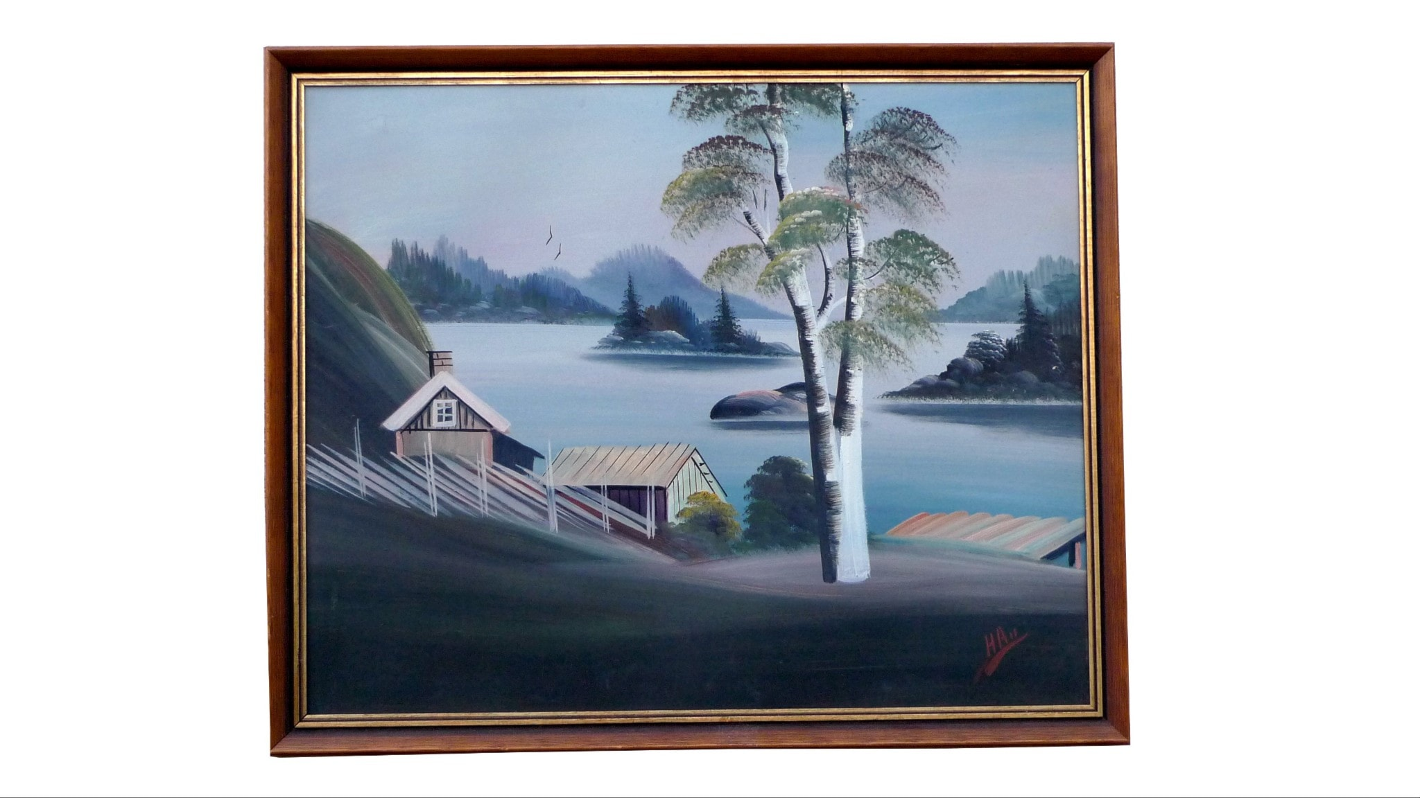 Målning av Herman Andersson, även känd som Brokiga Blad. Årtal okänt.