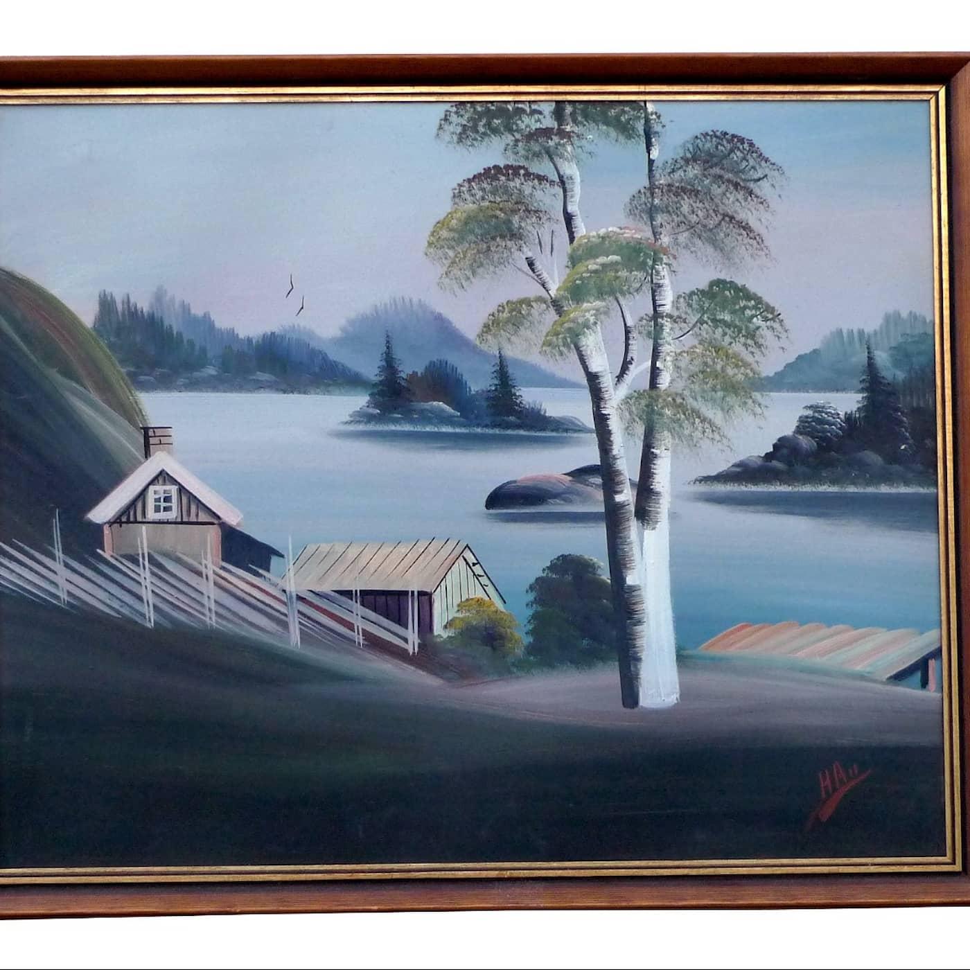 """Det kallades skithuskonst"" – om snabbmålaren Herman Andersson"
