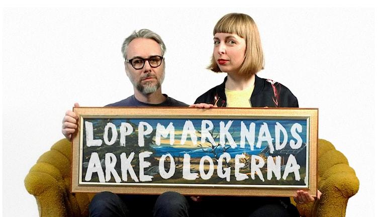 Tommie Jönsson och Maja Åström är Loppmarknadsarkeologerna.