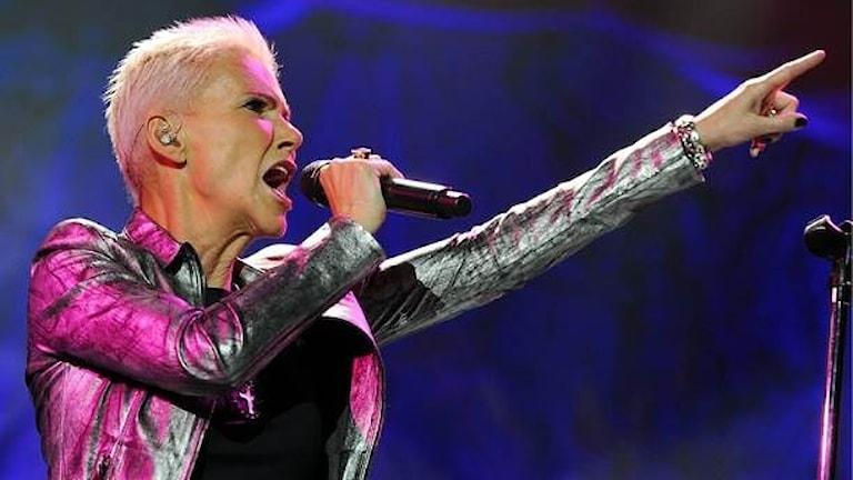 Marie Fredriksson har varit på världsturné med återuppståndna Roxette. Foto: Walter Bieri/Scanpix.