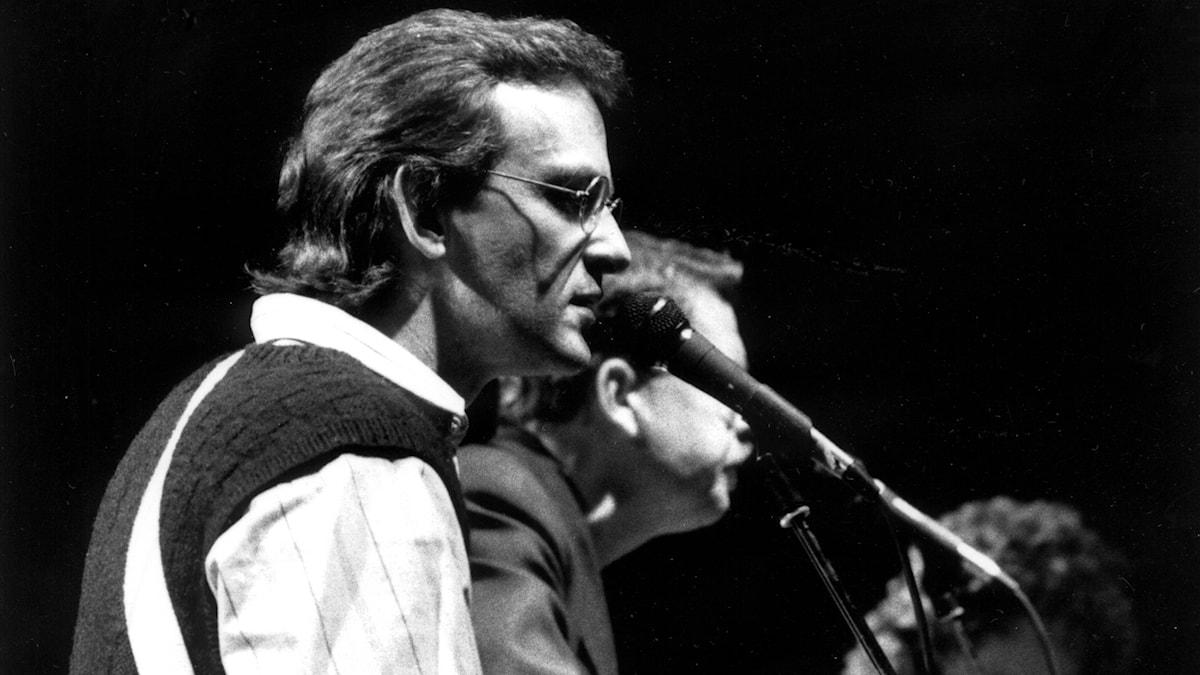 Björn Afzelius och Mikael Wiehe 1986.
