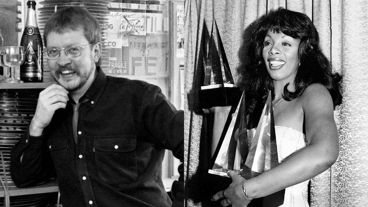 Kollage: Jacob Dahlin och Donna Summer.