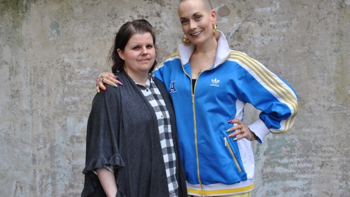 Cecilia tillsammans med Sanna Bråding.