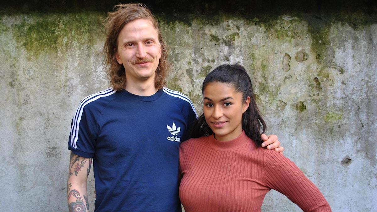 Björn tillsammans med Linda Pira