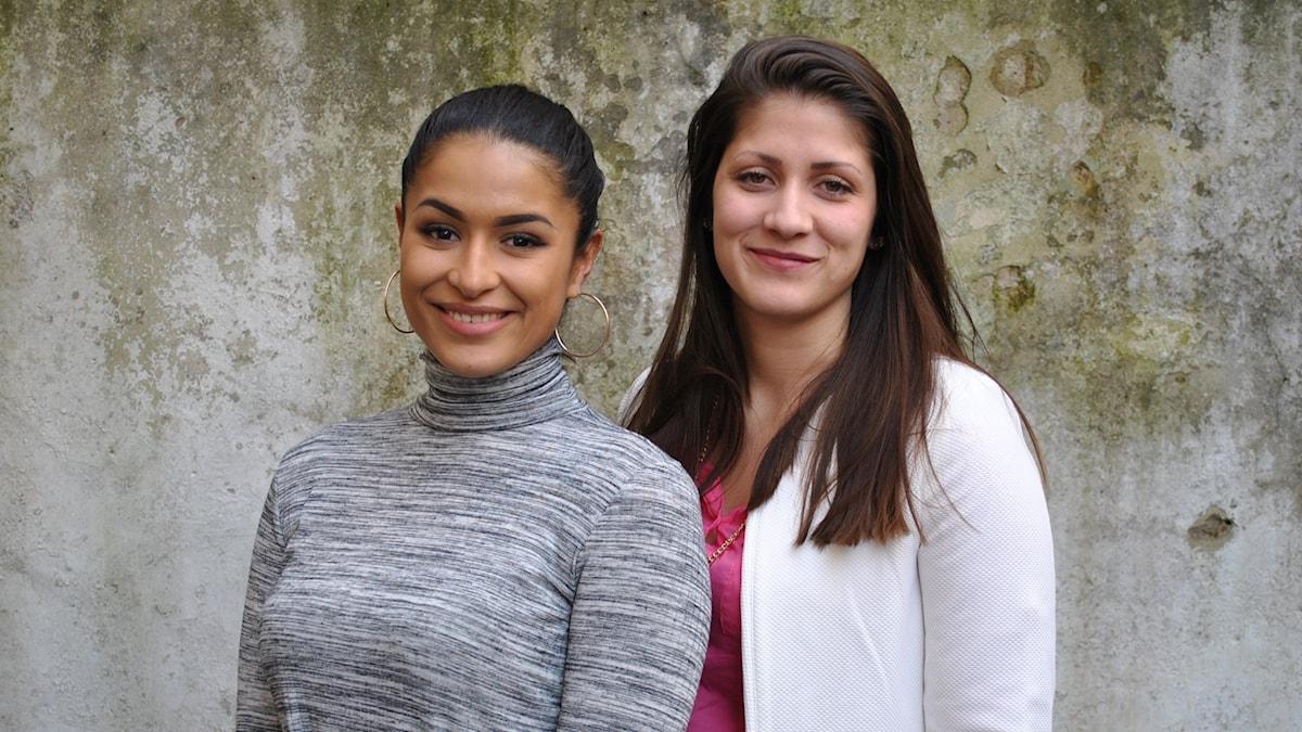 Maria tillsammans med Linda Pira