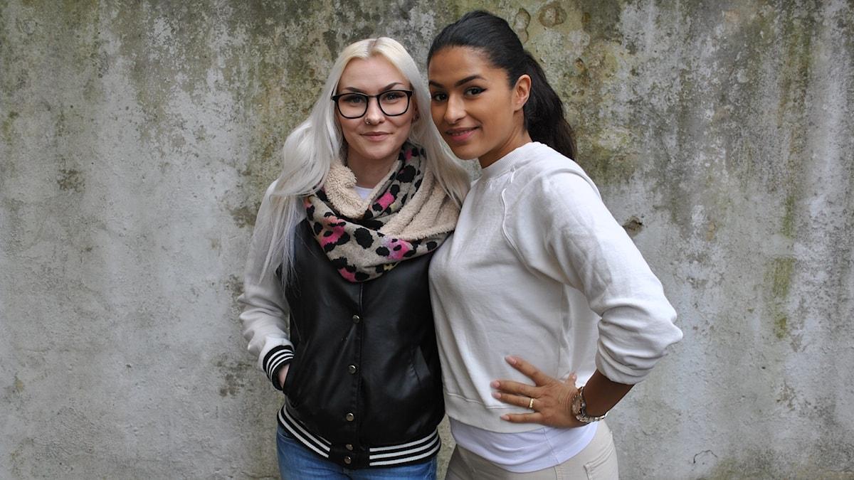 Anna-Maria tillsammans med Linda Pira