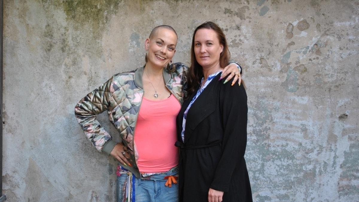 Sanna Bråding med Paulina.
