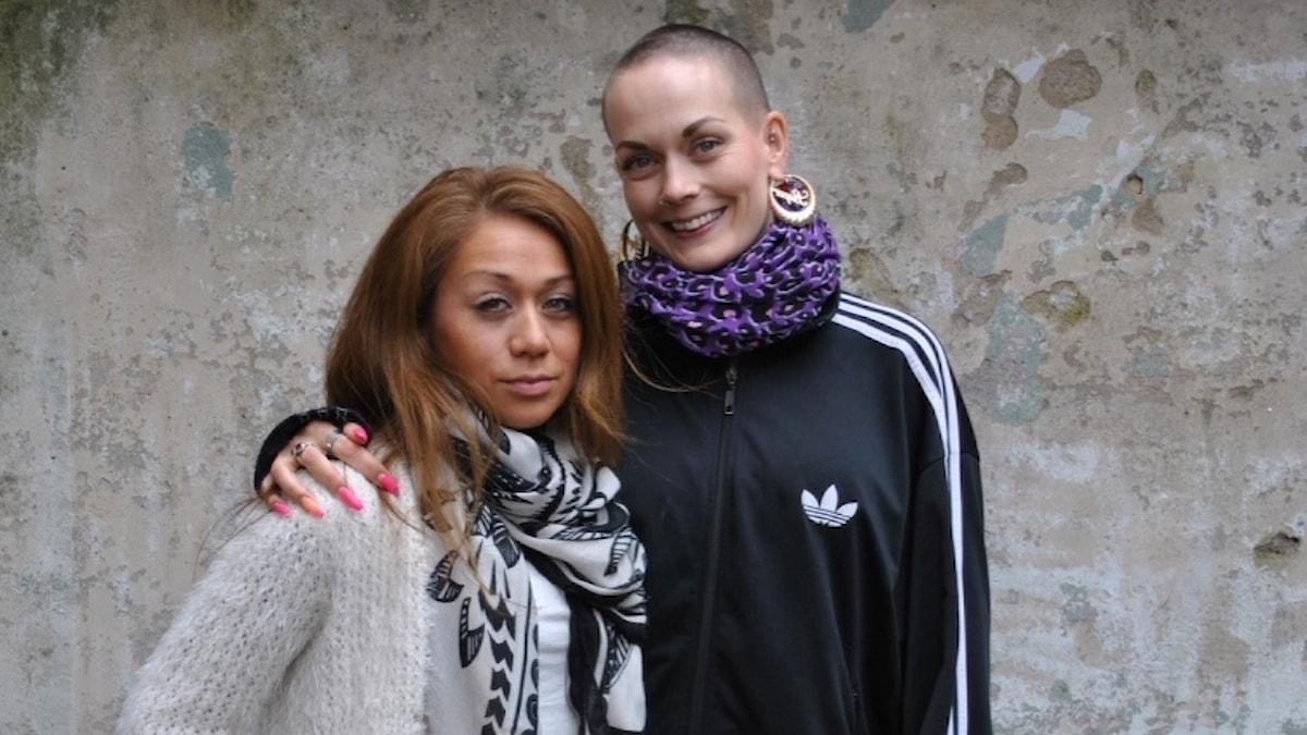 Fernanda tillsammans med Sanna Bråding.