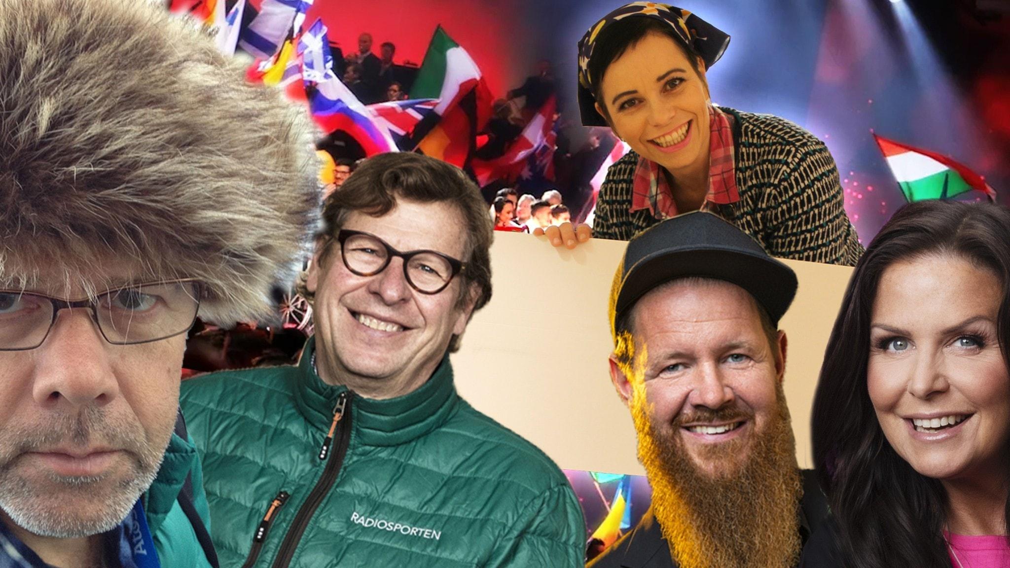 """Missa inte P4-profilerna Titti Schultz, Dag Malmqvist, Christer Lundberg och Roger Burman i """"Inför Eurovision Song Contest med Carolina Norén""""."""