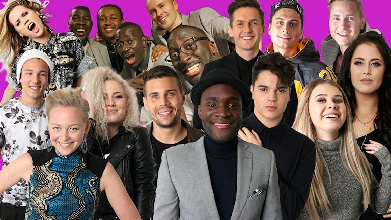 Ace Wilder, Panetoz, David Lindgren, Samir & Viktor, Frans, Wiktoria, Robin Bengtsson, Oscar Zia, Lisa Ajax, Molly Sandén, SaRaha, Boris René är finalisterna i Melodifestivalen 2016.