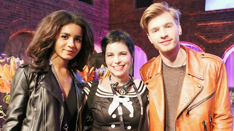 Carolina Norén har träffat Lettlands Justs och låtskrivaren Aminata.