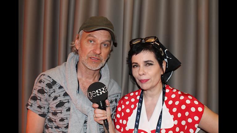 Björn Kjellman och Carolina Norén pratar final-genrep i Tel Aviv-natten