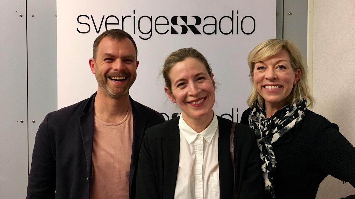 Ivar Ekman, Karin Pettersson och Ginna Lindberg.
