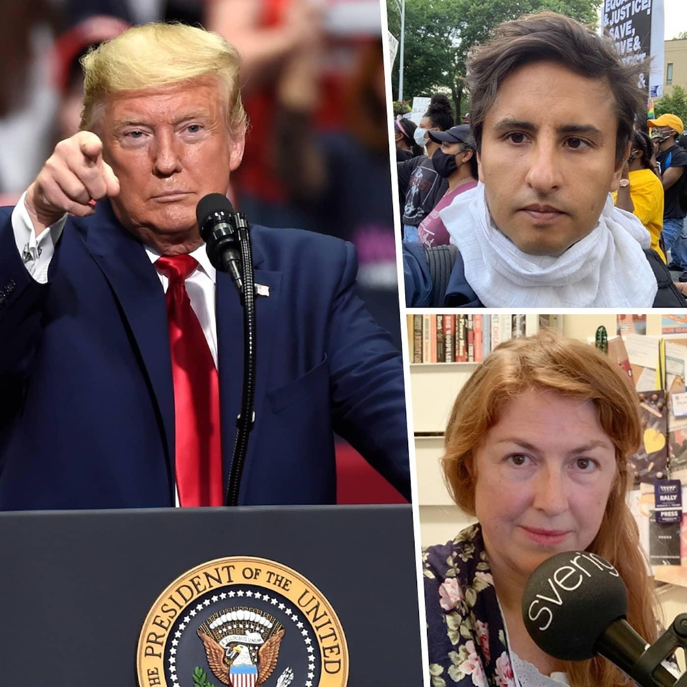 Nedrivna statyer och Trumps coronatrots