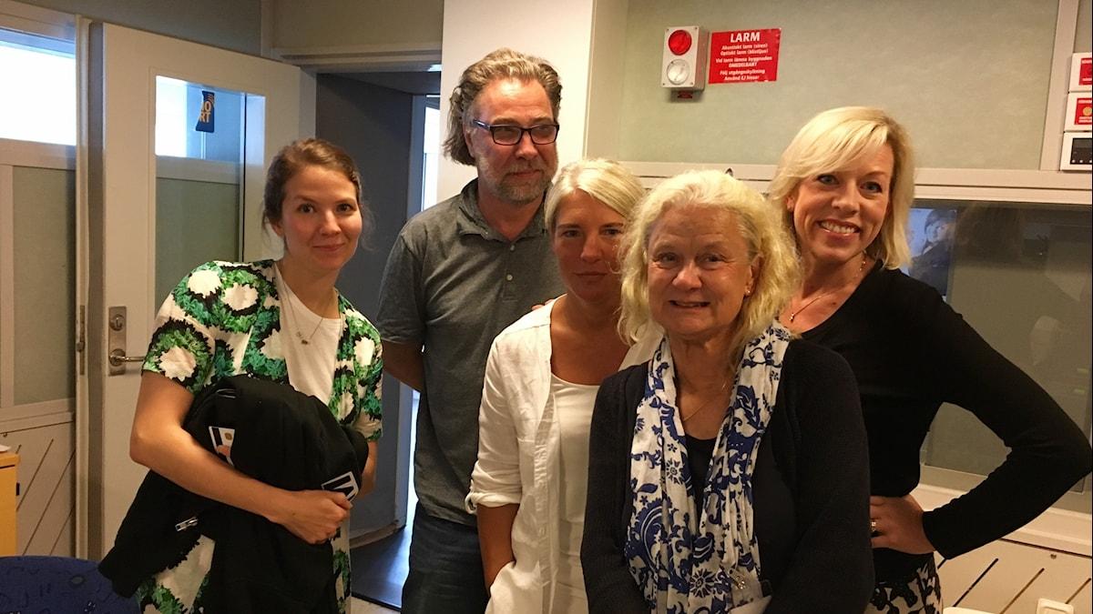 Cecilia Khavar, Anders Ask, Sara Stenholm Pihl, Karin Henriksson och Ginna Lindberg.