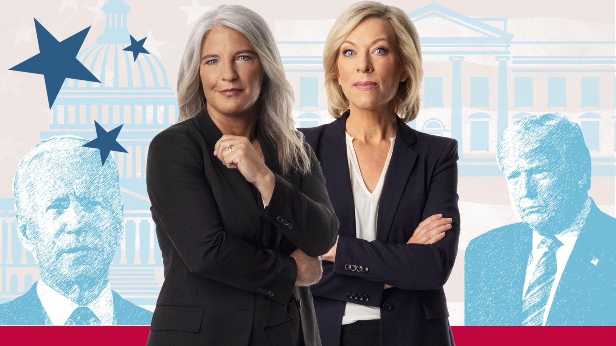 Sara Stenholm och Ginna Lindberg från USApodden.