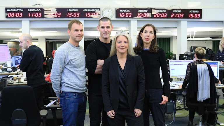 Ivar Ekman, Billy McCormac, Sara Stenholm Pihl och Sanna Thorén Björling.