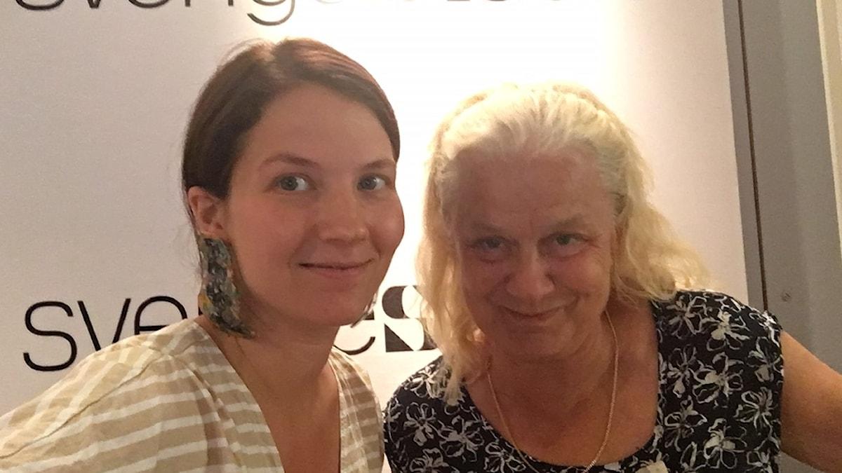 Ceclia Khavar, programledare och producent och Karin Henriksson, USA-expert, författare och journalist.