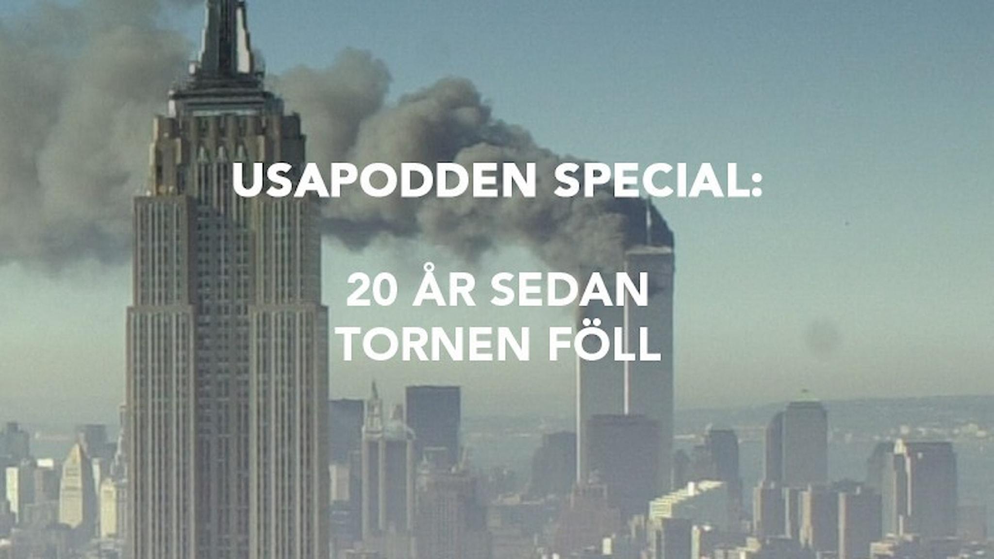 Tvillingtornen i New York elfte september 2001.