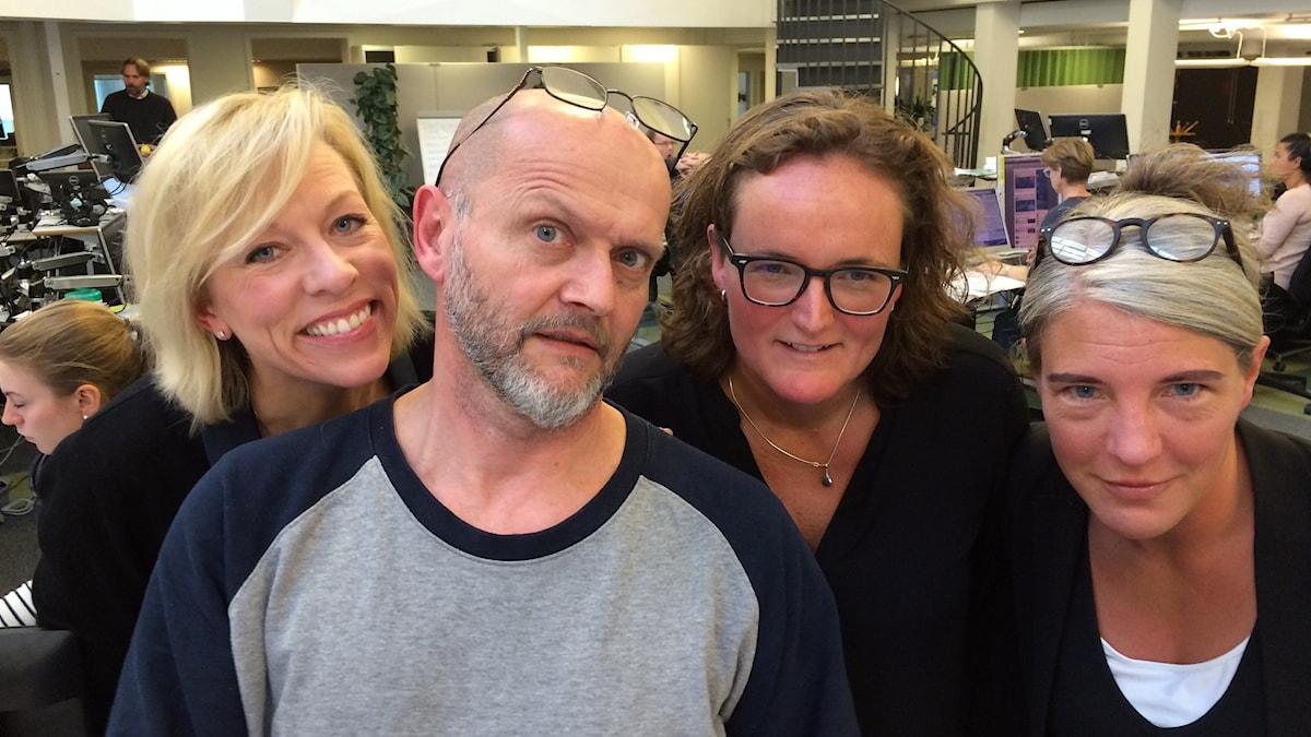 Ginna Lindberg, Lasse Johansson, Johanna Elgenius, Sara Stenholm.