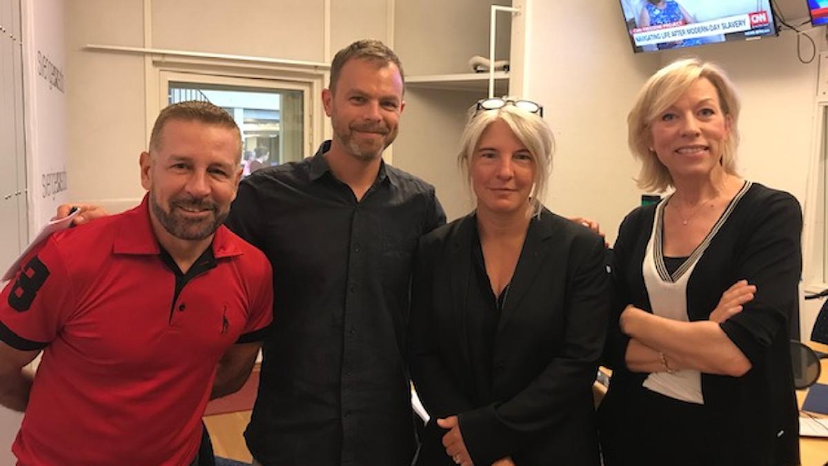 Brady Juvier, Ivar Ekman, Sara Stenholm Pihl och Ginna Lindberg.