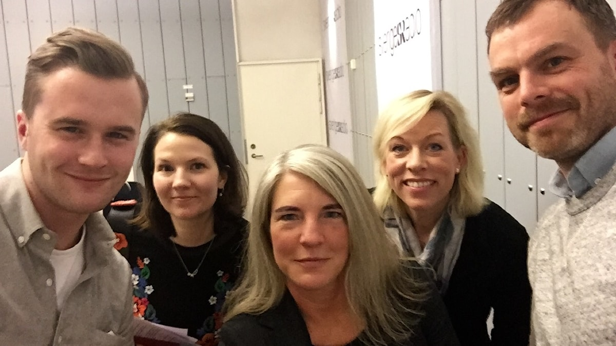 Gustav Broström, Cecilia Khavar, Sara Stenholm Pihl, Ginna Lindberg och Ivar Ekman.