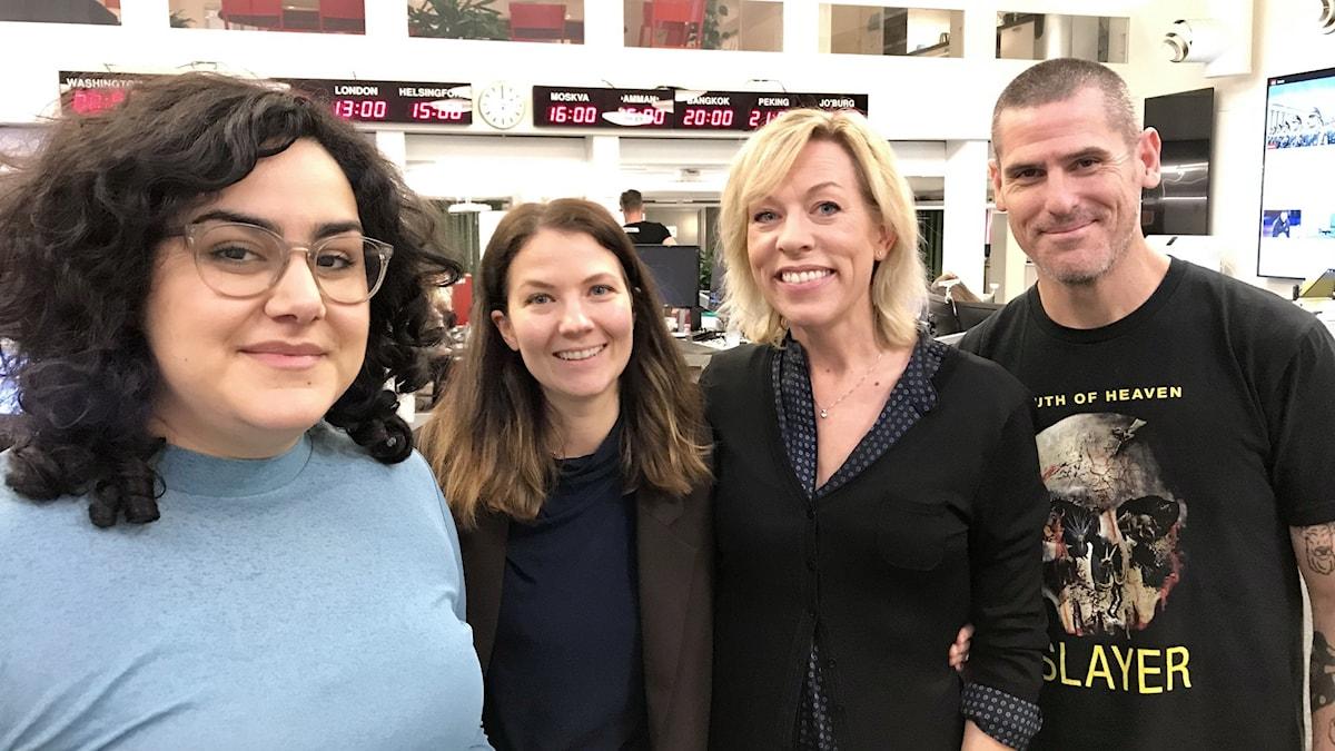 Tina Mehrafzoon, Cecilia Khavar, Ginna Lindberg och Billy McCormac.
