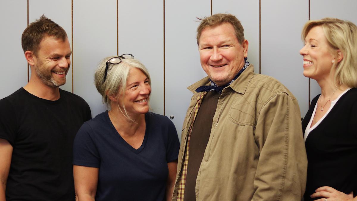 Ivar Ekman, Sara Stenholm Pihl, Roland Piorier Martinsson och Ginna Lindberg.