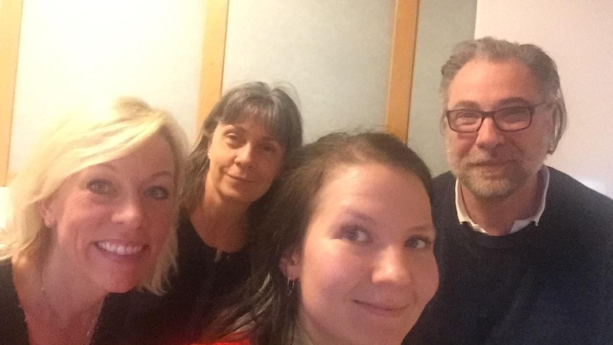Ginna, Nina, Cecilia och Anders