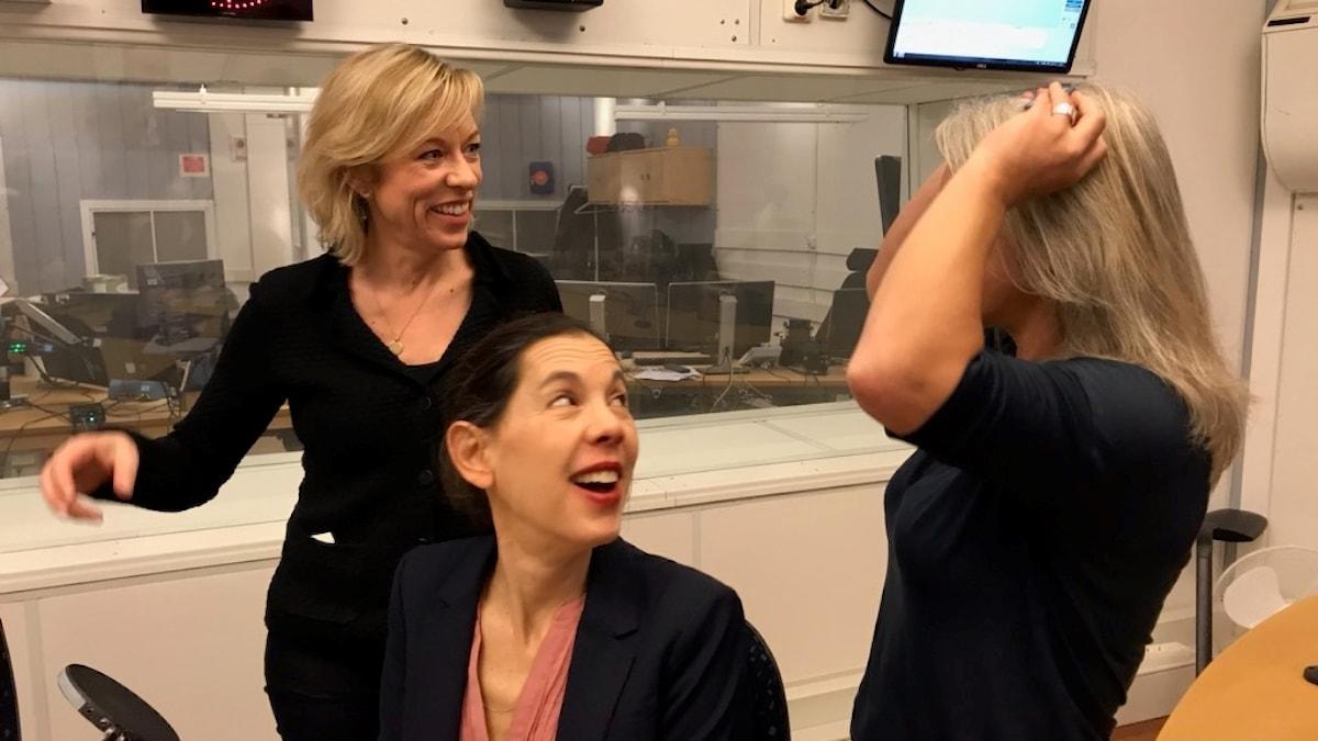 Ginna Lindberg, Sanna Torén Björling och Sara Stenholm Pihl