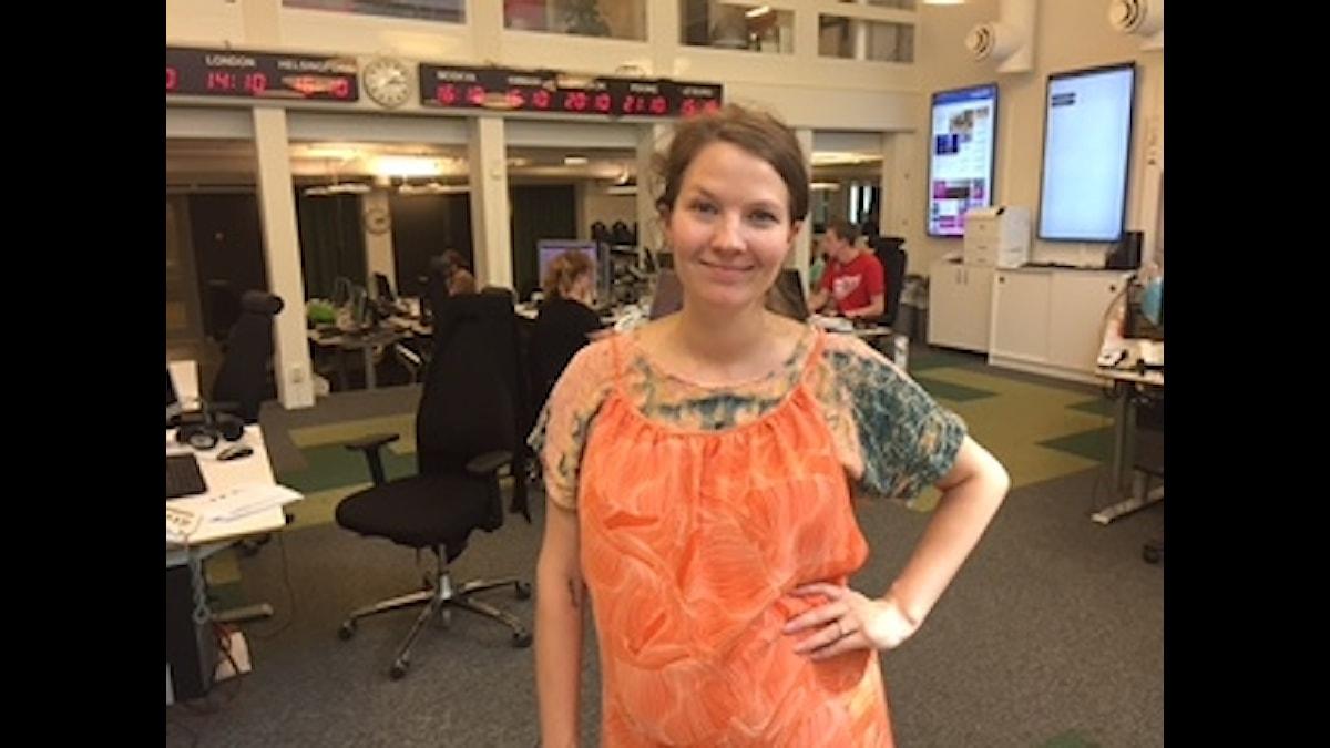 Programledare Cecilia Khavar.