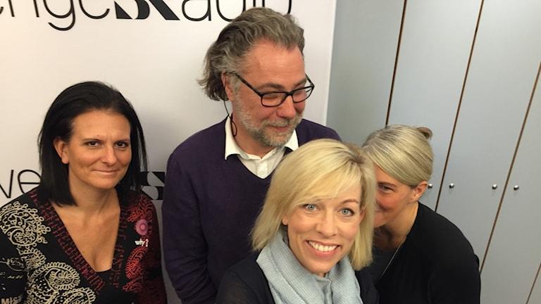 Usavalpodden Ginna Lindberg, Anders Ask, Frida Stranne och Sara Stenholm.