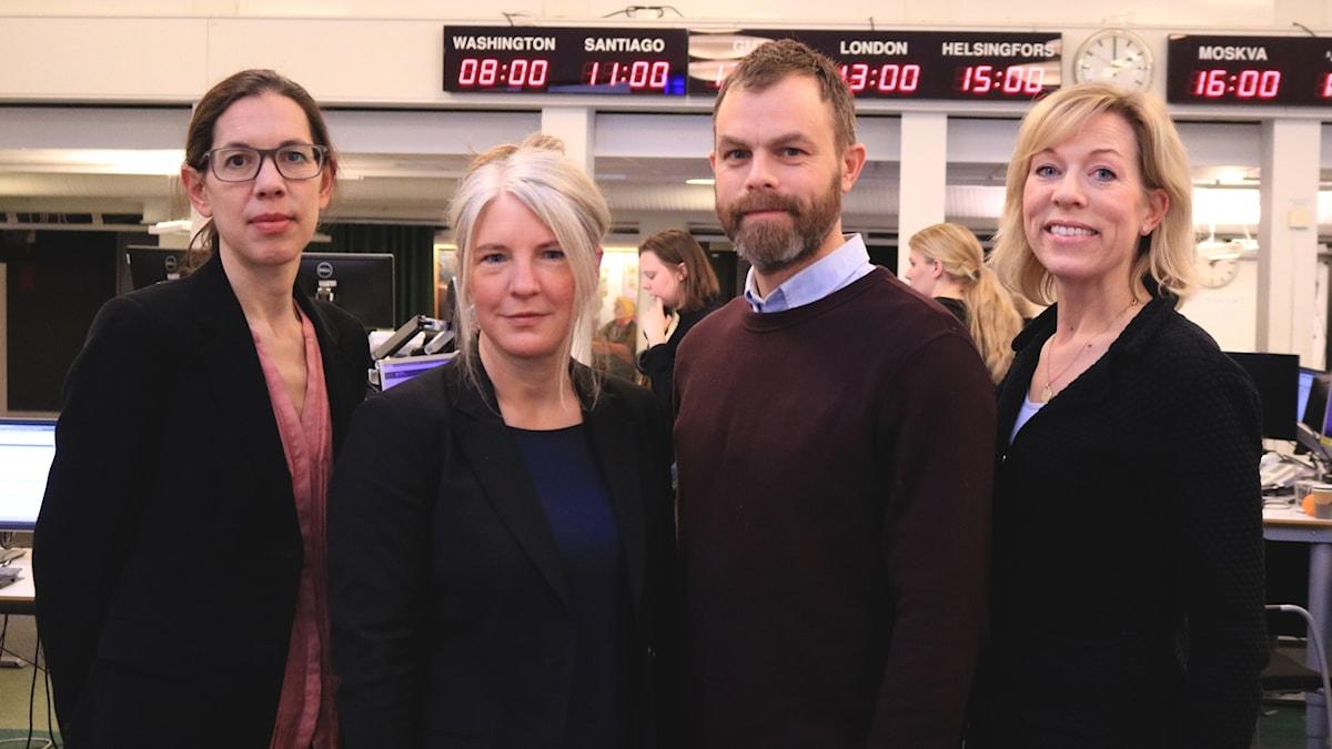 Sanna Torén Björling, Sara Stenholm Pihl, Ivar Ekman, Ginna Lindberg.