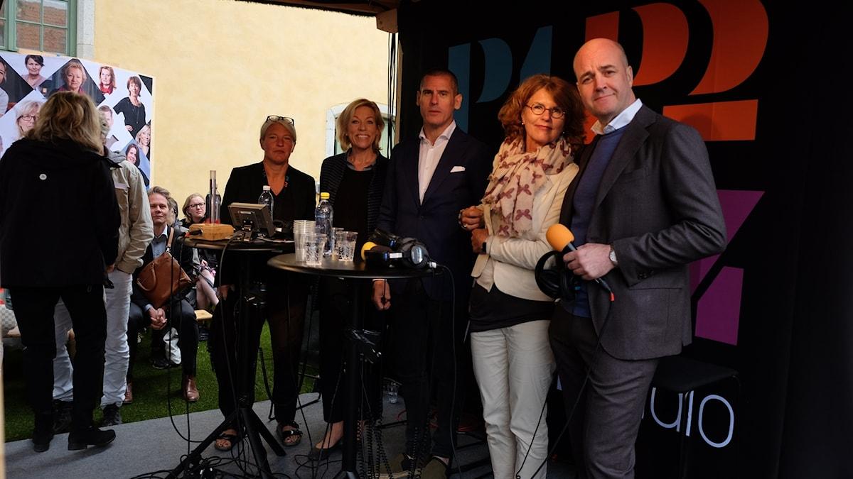 Fredrik Reinfeldt, USA-podden, Almedalen 2018.